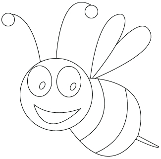coloriage d'abeille