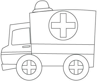coloriage d'ambulance