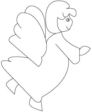 Coloriage d ange dessins colorier - Coloriage d ange ...