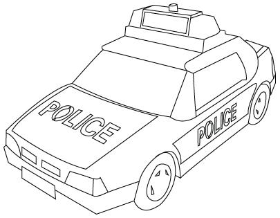 coloriage d'auto de police