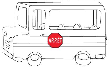 coloriage d'autobus scolaire