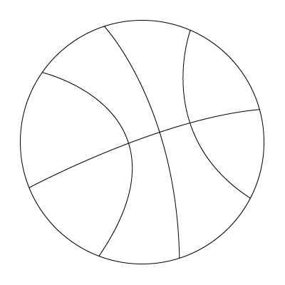 coloriage de ballon de basketball