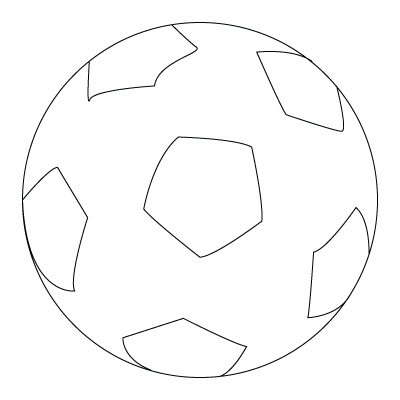 coloriage de ballon de soccer