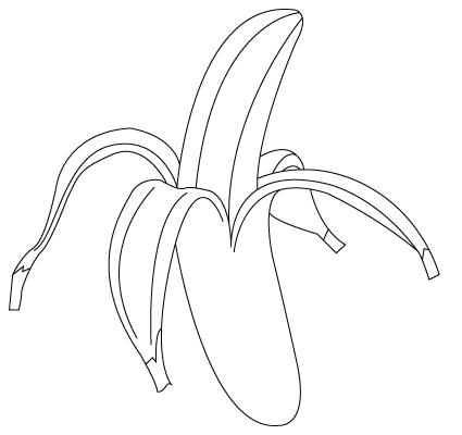 coloriage de banane