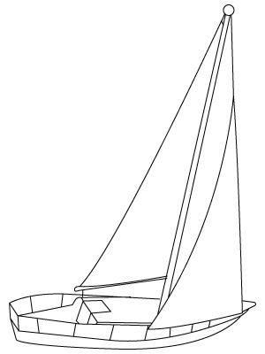 coloriage de bateau