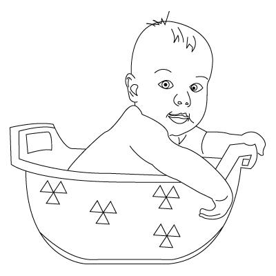 coloriage de bébé