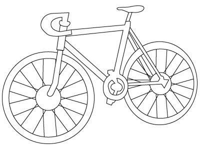 coloriage de bicyclette