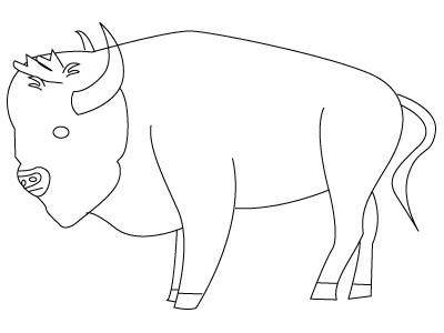 Animaux dessins colorier - Coloriage bison ...