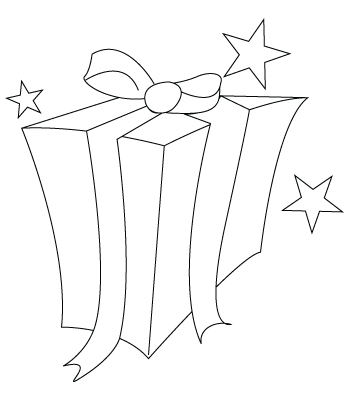 coloriage de cadeau