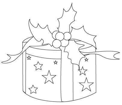 Coloriage de cadeau de no l dessins colorier - Coloriage cadeau de noel ...