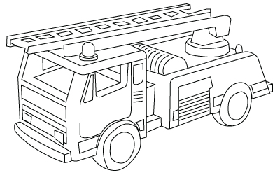 coloriage de camion pompier