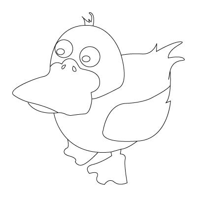coloriage de canard