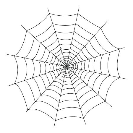 coloriage de toile d'araignées