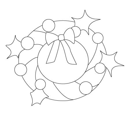 coloriage de couronne de Noël
