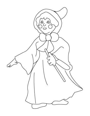 coloriage de Mère Noël