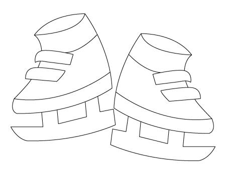 coloriage de patins