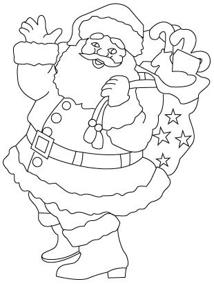 coloriage de Père Noël