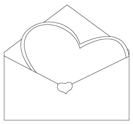 coloriage d'enveloppe de St-Valentin