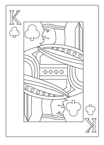 coloriage de roi de trèfle