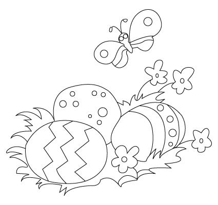 coloriage d'oeuf de Pâques