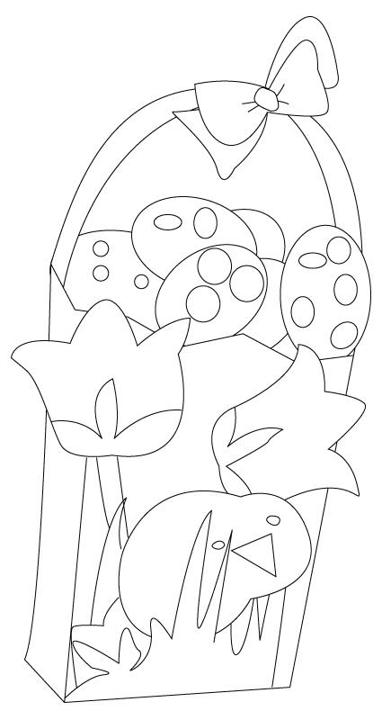 coloriage de panier de Pâques